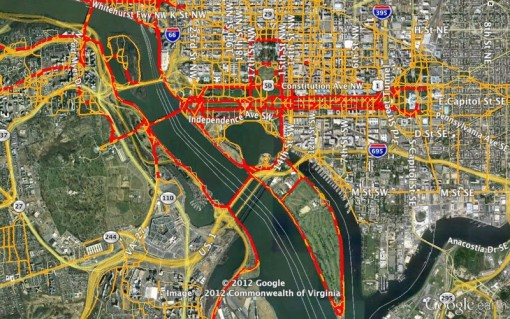 Nico Zazworkas Homepage Washington DC Running Map