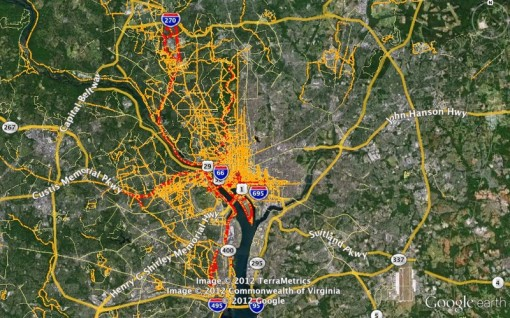 Nico Zazworkas Homepage Washington DC Running Map